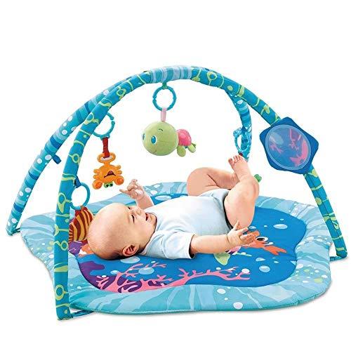 Palestrina Tappeto Gioco per Neonato Fitch Baby In morbido Tessuto Azzurro Con Giocattoli Peluche Pendenti e Specchio