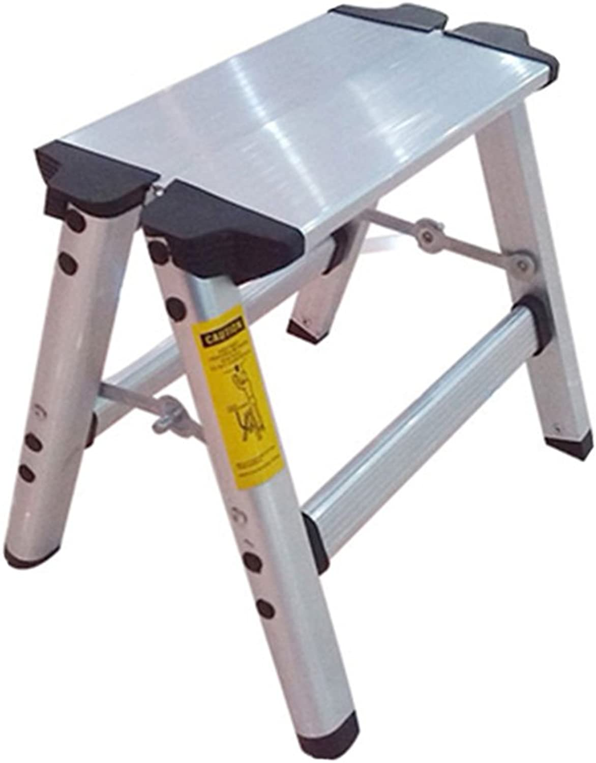 QFFL tideng Step Stools Home Folding Two-Step Ladder Folding Aluminum Alloy Ladder Thickening Step Stool Dual-use Ladder Stool