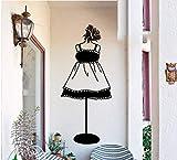 stickers muraux chambre Magasin de vêtements Individualité Créatif Sticker décoratif pour chambre de maquillage