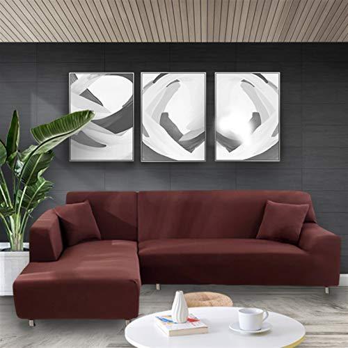 SASCD Cubierta de sofá Blanca elástica Estado Ajustado Sofá Todo Incluido Cubiertas de sofá para Sala de Estar Cubierta de Cubierta de sofá Sofá Funda de Almohada