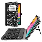 Fintie Folio Keyboard Case for Samsung Galaxy Tab A 10.1 2019 Model SM-T510(Wi-Fi) SM-T515(LTE) SM-T517(Sprint), Premium PU Leather Stand Cover with Removable Wireless Bluetooth Keyboard, Composition