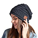 ORPERSIST Cappello Bluetooth Beanie Uomo Berretto Musicale Bluetooth 5.0 Cuffia Senza Fili con Altoparlanti, Cappello Caldo Invernali Lavabile Regali Natale per Uomo Donna Running,Grigio