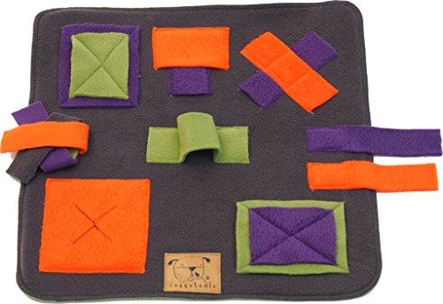 Doggytools Sniffpad Mini Schnüffeltuch - 35x35cm Intelligenzspiel f. Hunde, Nager, Katzen (Stein)