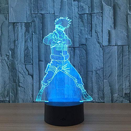 3D Led Night Light Color Change Decor Lamp Visual Creative Led Lamp Anime 7 Colors Remote Control Optical Night Light Desk Touch Table Nightstand Perfect Gifts for Kids