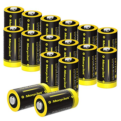 CR123A Lithium Batteries, 16Pack 3V 1500mAh Non-Rechargeable CR17345 CR123 Battery with High Capacity PTC Protection for Flashlight, Camera, Toys, Alarm System (- NOT Compatible with Arlo Cameras)