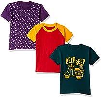 ESNINO Boys' T-Shirt (Pack of 3)