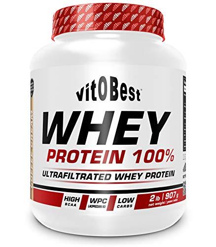 WHEY PROTEIN 100% 2 lb FRESA - Suplementos Alimentación y Suplementos Deportivos - Vitobest