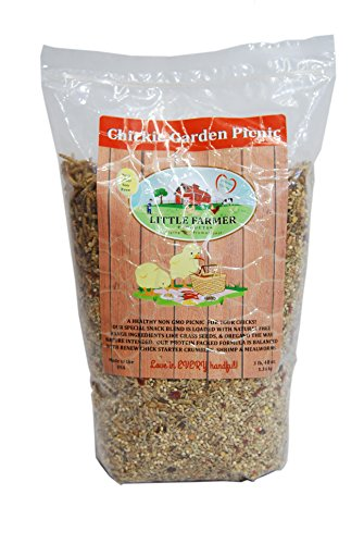 LITTLE FARMER PRODUCTS Chickie Garden Picnic Non-GMO, Soy-Free Chick Treats | Premium Poultry Meal Worm & Herb Mix | 3 lbs