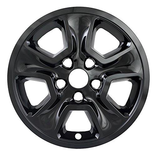 "Overdrive Brands Black 17"" Hub Cap Wheel Skins for Jeep Grand Cherokee - Set of 4"