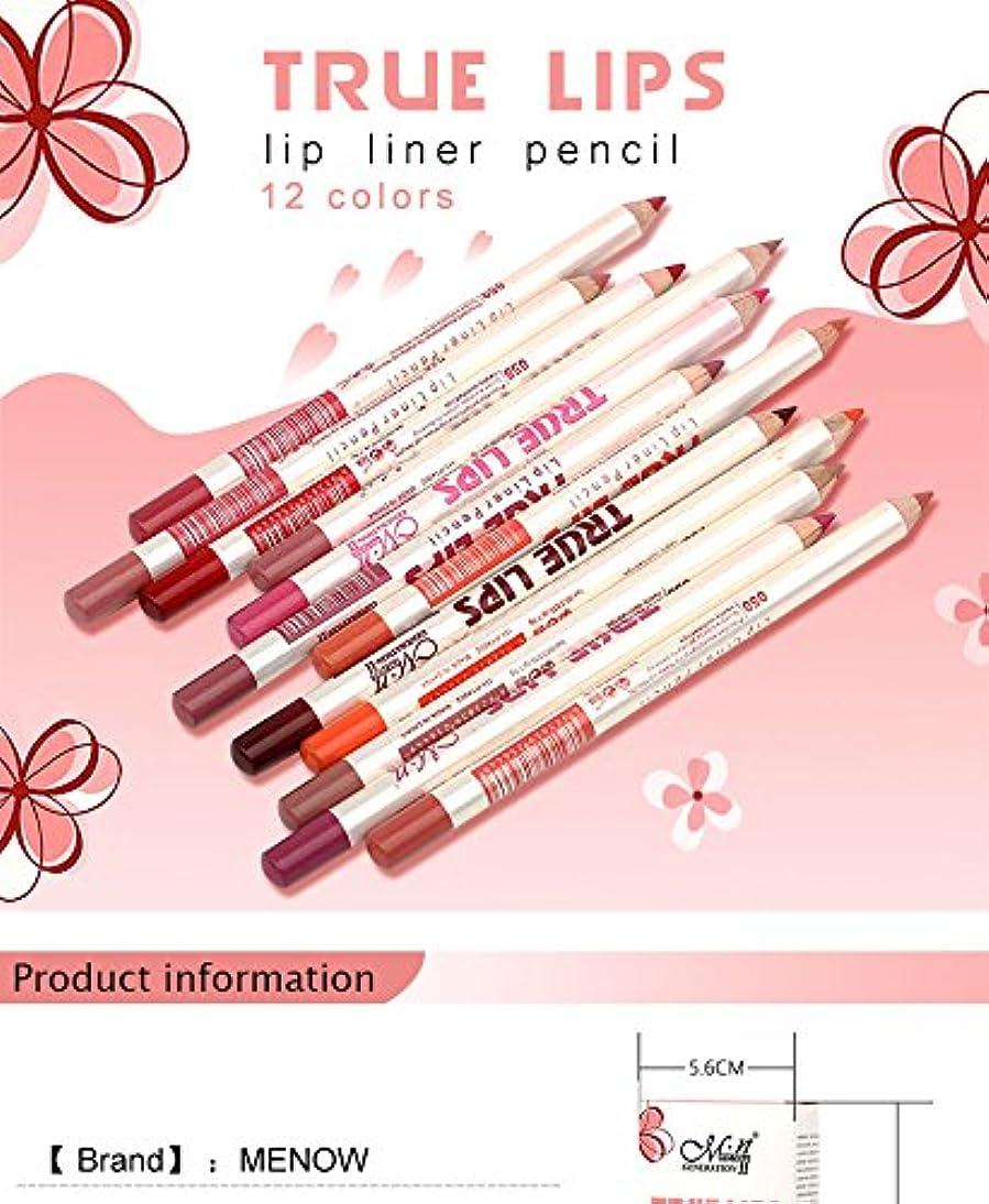 適応大西洋忌まわしいMenow Brand Makeup 12Colors/Set Waterproof Lip liner Pencil Women's Professional Long Lasting Cosmetic Tools P14002
