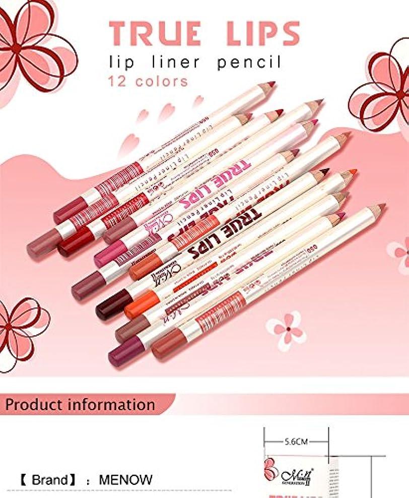 奪う肥満革命的Menow Brand Makeup 12Colors/Set Waterproof Lip liner Pencil Women's Professional Long Lasting Cosmetic Tools P14002