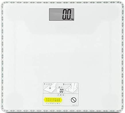 GLJJQMY Electronic Human Scale Glass Healthy Weight Scale Accuracy Electronic Scale