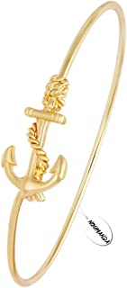 Vintage Alloy Ship Anchor Bracelet Infinity Bangle
