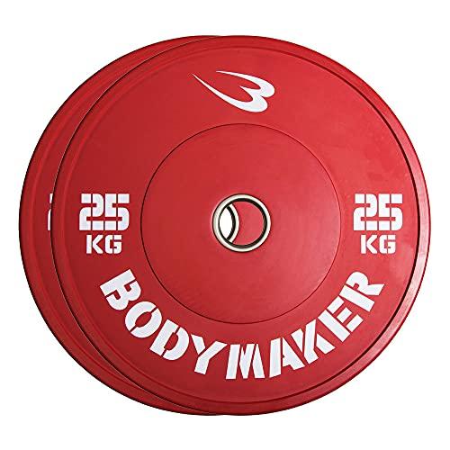 【BODYMAKER/ボディメーカー】オリンピックカラープレート25KG 2枚セット ダンベル バーベル プレート 重り 筋トレ 筋力 筋肉 鉄アレイ トレーニングジム ウエイトトレーニング ウェイトトレーニング weight