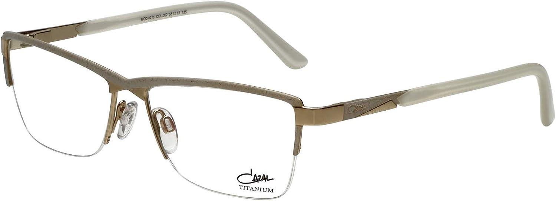 Cazal Designer Eyeglass Frames 4218002 in White gold 55mm