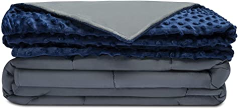 Quility Premium Adult Weighted Blanket & Removable Cover | 25 lbs | 86