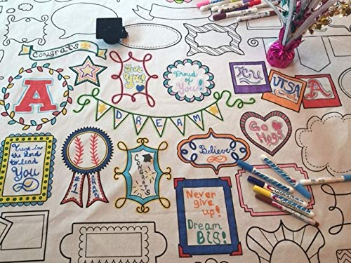 The Coloring Table - Colorable Frame Fun Tablecloth - XL