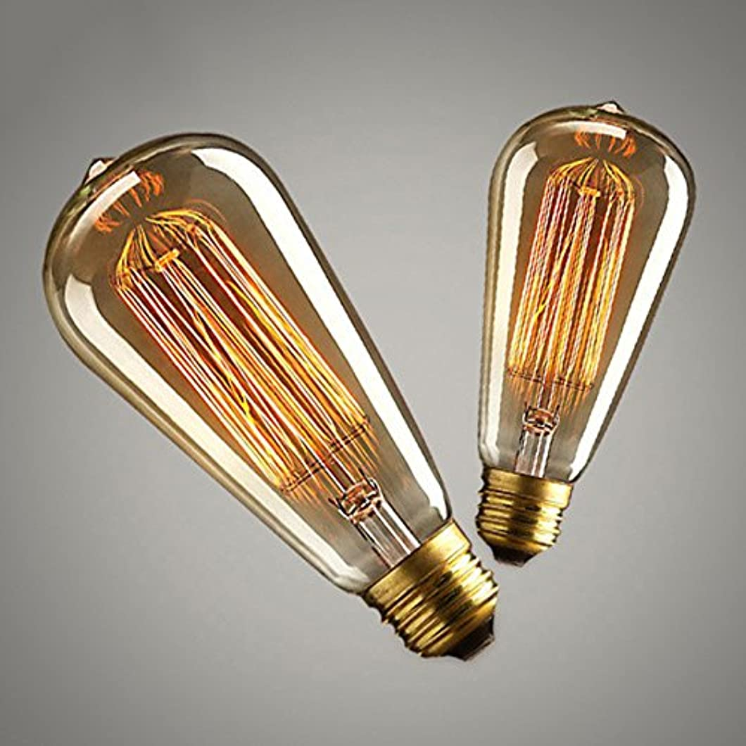 こどもの日メンタル使用法Zehui Coffee House Decor Industrial Style Lamp 10W E27 220-240V Light Bulb Retro Yellow Light W-filament Bulb