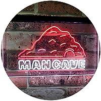 Man Cave Decoration Boy Room Den Garage Display Dual Color LED看板 ネオンプレート サイン 標識 白色 + 赤色 600 x 400mm st6s64-i3069-wr