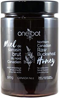 Oneroot Organic Natural Raw Canadian Buckwheat Honey 17.6 Ounce (500 Gram) (Buchwheat)