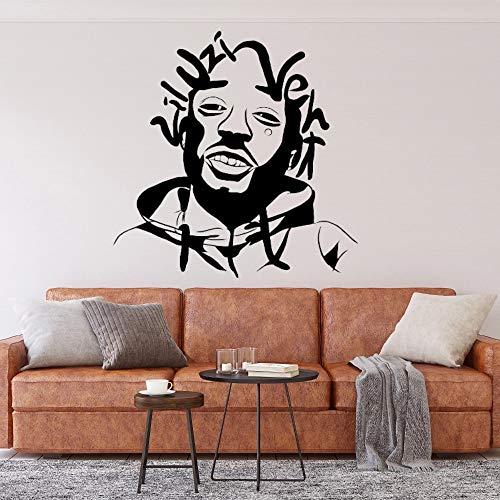 WERWN Cool New Rapper Wall Sticker Art Rapper Wall Decoration per casa Camera da letto