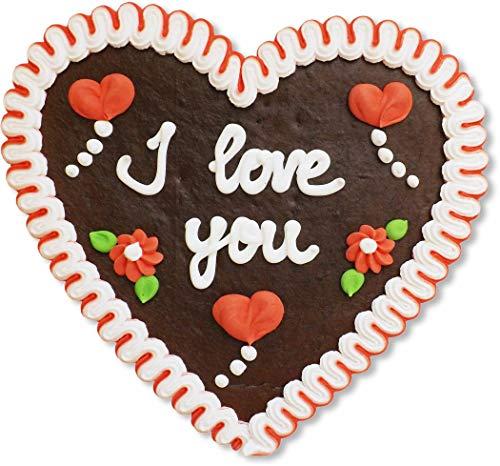 Lebkuchenherz - 23cm - I love you- perfekt zum Valentinstag und Geschenk für Freund und Freundin