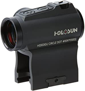 HOLOSUN HS503GU Circle Micro Red Dot Sight, 2 MOA Dot, 65 MOA Circle, Black