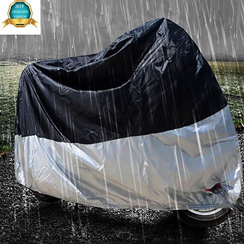 Coperture per Moto Traspiranti Impermeabili in Tessuto 210D Oxford Anti Polvere Ruggine Pioggia Neve UV con Borsa Trasporto,A,XL