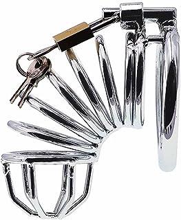 Cock cage mannelijke kuisheidsapparaat vergrendeld kooi seksspeeltje for mannen, sleutel en slot inbegrepen (Size : M-45mm)