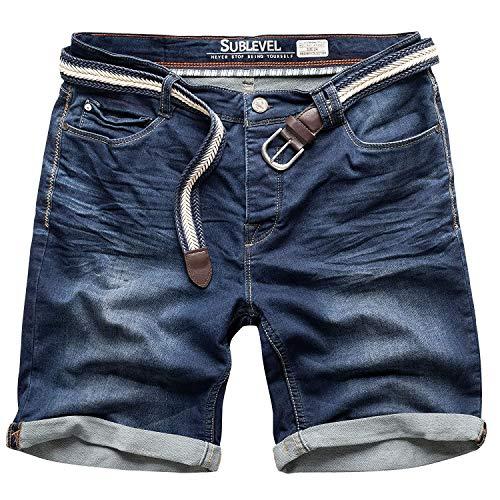 Sublevel W29 - W44 - Pantalones cortos para hombre, bermudas, vaqueros, pantalón de chándal, estilo desgastado