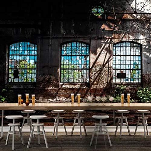 muurschildering op maat 3D niet-geweven stof milieuvriendelijk en duurzaam behang muursticker-vintage oude vensterbank 450(w)x300(H)cm