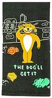 Blue Q ディッシュタオル The Dog'll Get It.コットン100% 面白くて機能的 鮮やかな色のスクリーンプリント 高さ28インチ x 幅21インチ