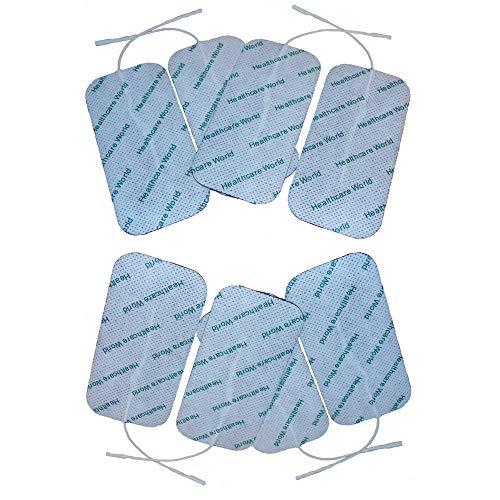 Grandes électrodes autocollantes x 8 Pour Appareil d'électrothérapie TENS EMS par Healthcare World