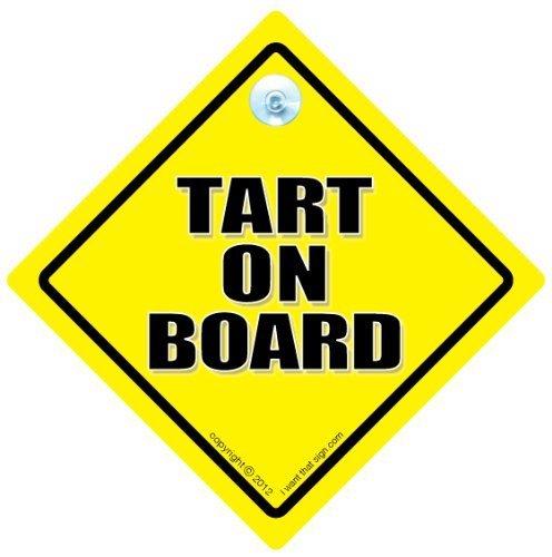 Moule à tarte à tarte Bord Voiture, en voiture, autocollant, autocollant de voiture, Road Sign à tarte, blague voiture Inscription en anglais \