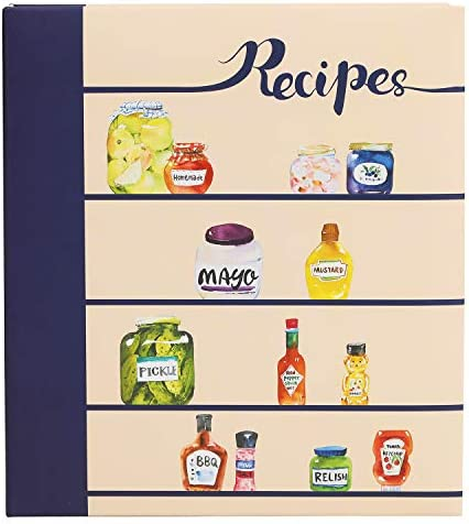 COFICE Recipe Binder 8 5x9 5 Recipe Ring Binder 4x6 Cards and Tabbed Dividers Seasoning Design product image