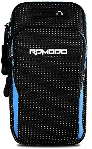 RDMODO Phone Armband for Running Workout Gym Arm Phone Holder Waterproof Large Capacity Adjustable Armband Phone Case for iPhone 12 11 Pro Max Xs Xr X 10 8 7 Plus Samsung Galaxy Note 10 9 S10 S9