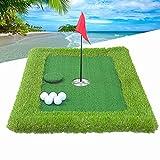 FTIK Golf Green Putting, tapete para Putting Green de Golf, Pool Golf Game Set, Water Party Indoor and Outdoor Backyard Game Game para Adultos y niños Verde