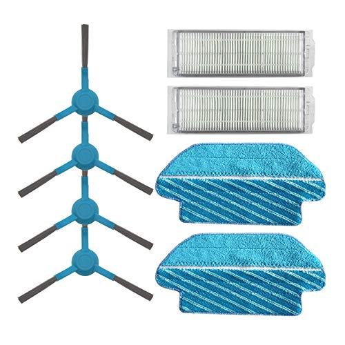 LIUWEI HEPA Filter Roller Pinsel MOP Pads Tuch Fit für Cecotec Conga 3290 3490 3690 Staubsauger Ersatzteile Seitenbürste Ersatzkits (Color : 8pcs)