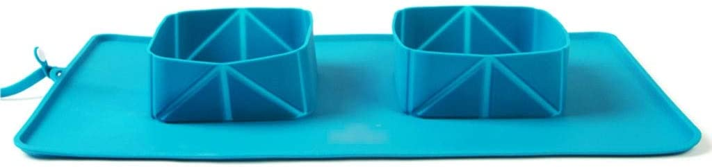 Pet Today's only Bowls Dishes Sales for sale Double Travel Portable Dog Folding Bowl Silico