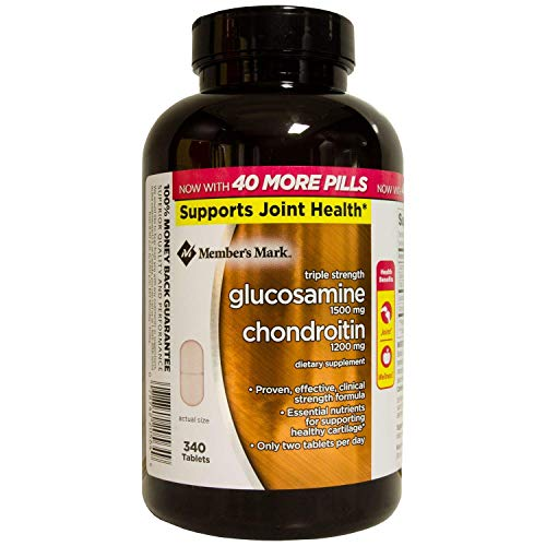 Member's Mark Triple Strength Glucosamine Chondroitin 340 Count. Body from Glucose and The Amino Acid