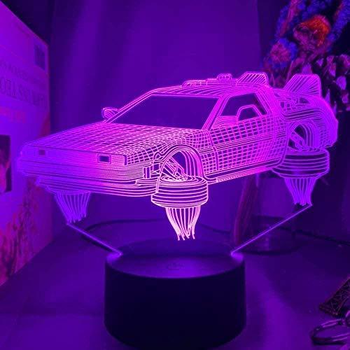 3D Anime Mood Light Science Luz LED de noche para decoración de dormitorio infantil Regalo de cumpleaños para niños Sala de estudio Escritorio Lámpara 3D Sci-Fi Coche Dormitorio Decoración Luz-Tocar