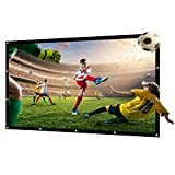 72 inch Portable Projector Screen Outdoor Movie Screen for Projection Double Sided for Home Theater No Wrinkles with 15 Nails and One Rope