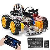 OSOYOO Starterkit Roboter-Modellauto für Arduino,STEM Fernbedienung über App für pädagogische motorisierte Robotik zum Bauen