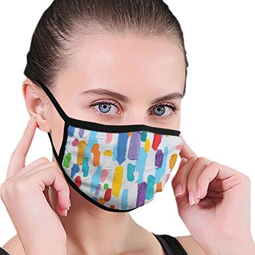 Comfortabel windproof masker met de hand gemaakt kleurrijk abstract painting kleuren French Flag Pattern Brush Mark Face masker Mouth Maskers