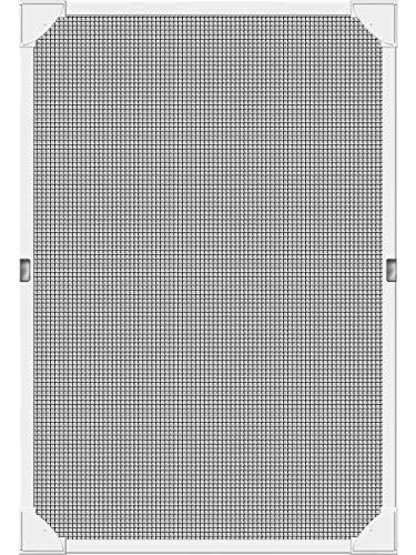 Mosquitera de protección contra insectos, de Schellenberg. Adecuada para tragaluces y ventanas, con marco magnético sin necesidad de taladrar, 80 x 140 cm, color blanco