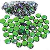 ARSUK Piedras de Cristal para Acuario y propósito Decorativo, Color Verde, 500 g