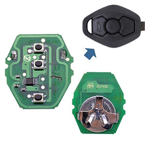Auto Schlüssel Funk Platine 1x 434 MHz Sender Sendeeinheit + 1x Batterie kompatibel mit BMW