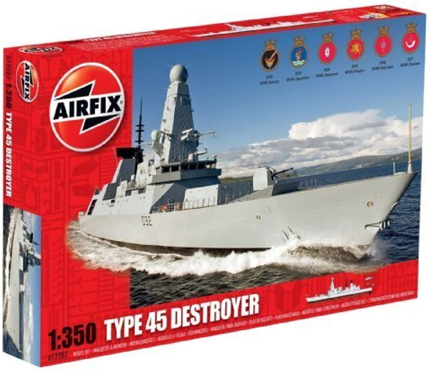 Airfix HMS Daring Type 45 Destroyer Boat Building Kit, 1 350 Scale by Airfix