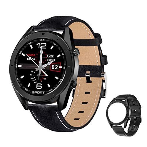 Reloj Inteligente Hombre,Smartwatch Hombre de Pantalla Táctil Ccompleta Impermeable IP68, Pulsera de Actividad Inteligente con 9 Deportes, Pulsómetro,Sueño,GPS,Caloría,3 Correas, iOS y Android