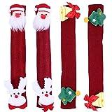 OSALADI 4Pcs Weihnachten Kühlschrank Türgriff Abdeckungen Santa Rentier Mikrowelle...